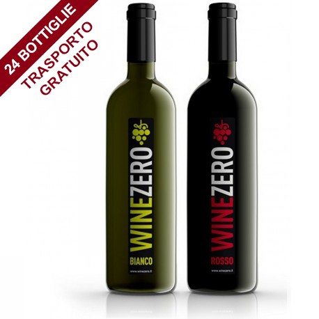 Conf. 12 bottiglie Rosso Dry + 12 bottiglie Bianco Dry