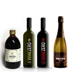 Conf. 1 bottiglia Extra Dry + 1 bottiglia Rosso Dry + 1 bottiglia Bianco Dry + 1 Amarò